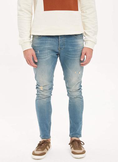 DeFacto Slim Comfort Fit Jean Pantolon Yeşil